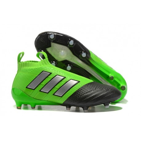 adidas ACE 17 Plus PureControl FG-AG Football Boots Green Black Silver