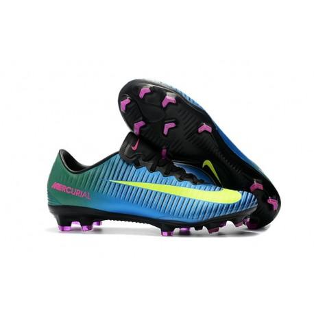 Nike Mercurial Vapor XI FG ACC Mens Soccer Boots Blue Yellow