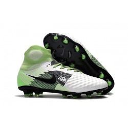 Top Nike Magista Obra II FG 2017 Mens Football Shoes White Green Black