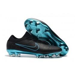 Nike Mercurial Vapor Flyknit Ultra FG ACC Mens Soccer Boots Black Blue