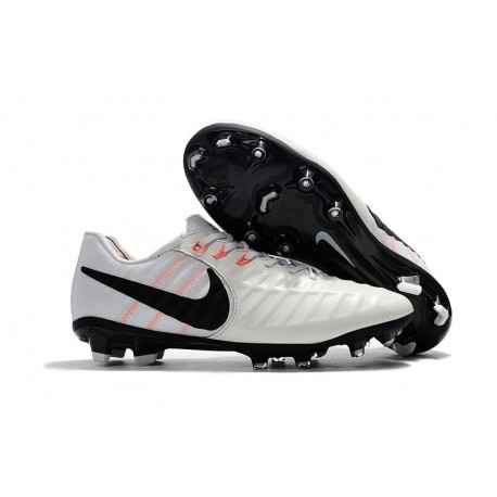 Nike Tiempo Legend VII FG ACC Mens Soccer Cleats - White Black
