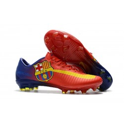 Nike Mercurial Vapor XI FG ACC Barcelona Soccer Boots Red Yellow