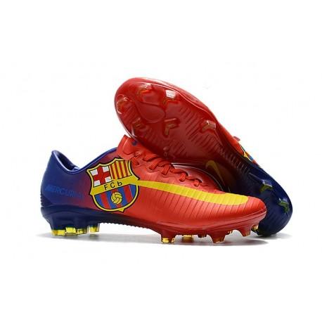 Nike Mercurial Vapor XI FG ACC Barcelona Soccer Boots Red Yellow