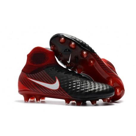 Top Nike Magista Obra II FG 2017 Mens Football Shoes Black Red