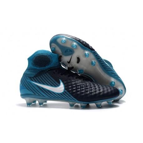 Top Nike Magista Obra 2 FG Firm Ground Boots - Black Blue