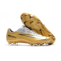 Nike Mercurial Vapor 11 FG Firm Ground New Cleat - Gold White