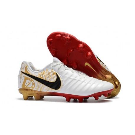 Nike Tiempo Legend VII FG ACC Mens Soccer Cleats - White Gold Black