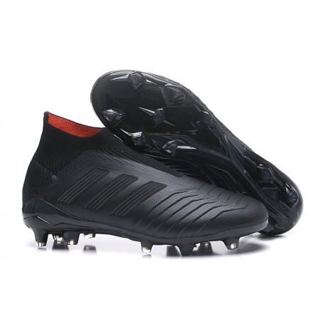 adidas New Predator 18+ FG Soccer Cleats All Black