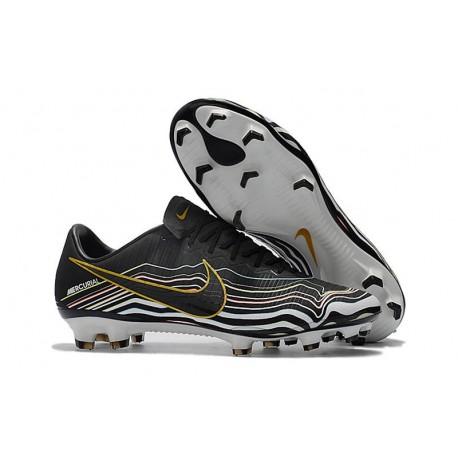 Nike Mercurial Vapor XI FG Men's Boots - Black White Gold