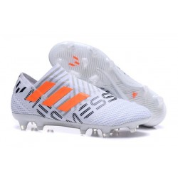 adidas Nemeziz Messi 17+ 360 Agility FG White Grey Orange
