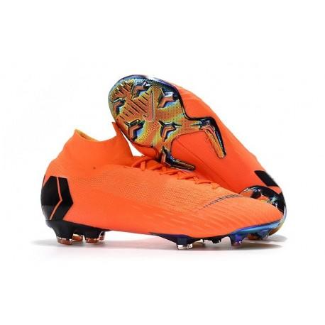 Nike Mercurial Superfly VI 360 Elite FG Soccer Cleats - Total Orange Black
