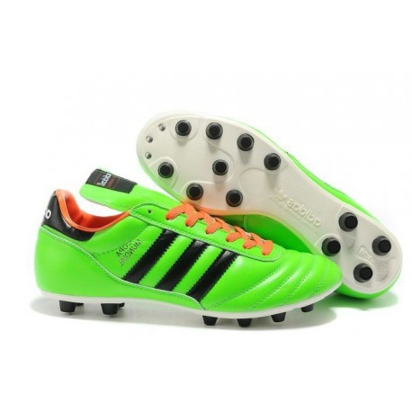adidas Copa Mundial FG K-Leather Football Shoes Solar Slime