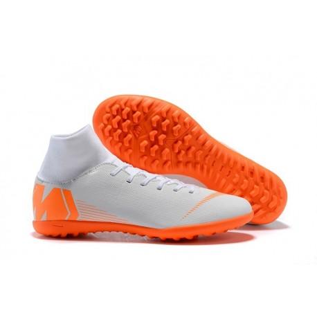 Nike Mercurial Superfly X 6 Elite TF Boots White Orange
