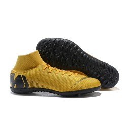 Nike Mercurial Superfly X 6 Elite TF Boots Gold Black