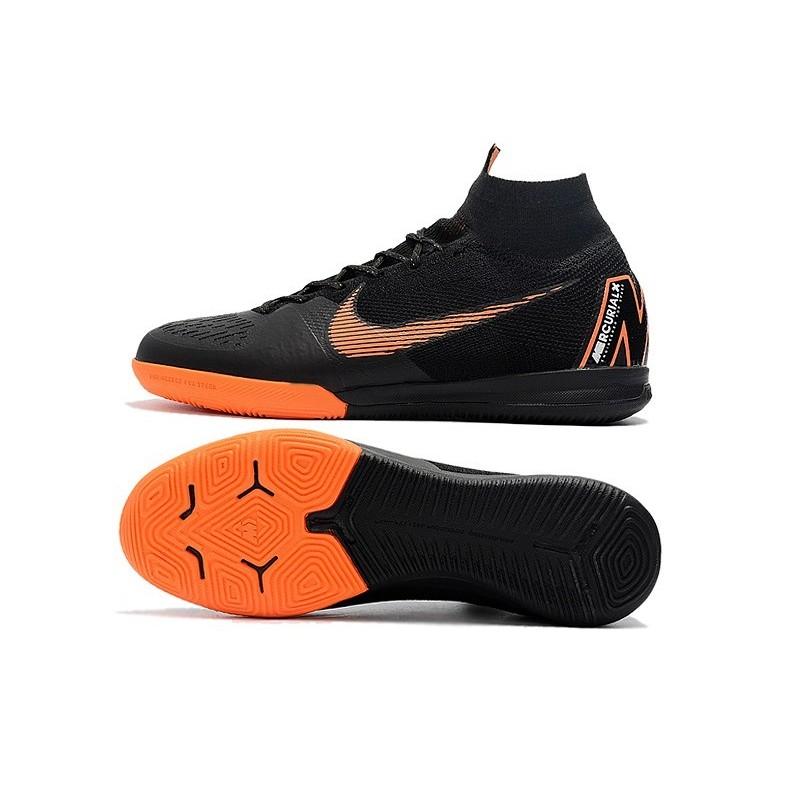 Nike Mercurial SuperflyX VI Elite IC Indoor Shoes Black Orange