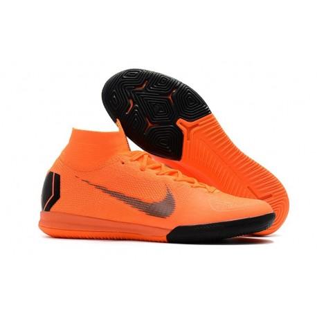 Nike Mercurial SuperflyX VI Elite IC Indoor Shoes Orange Black