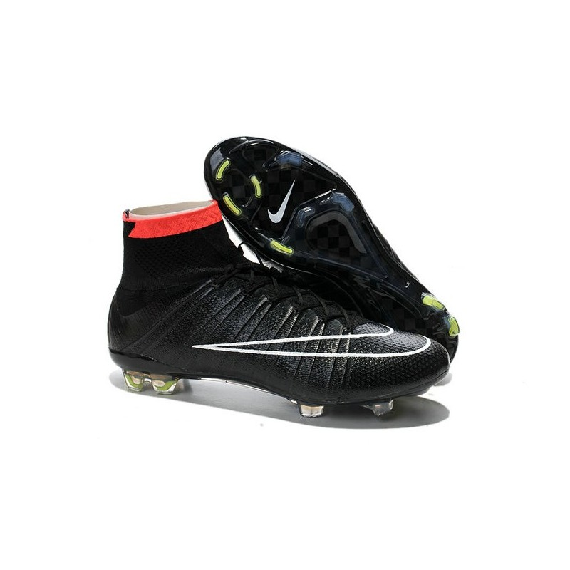 Top Nike Mercurial Superfly FG ACC Soccer Cleat Black White