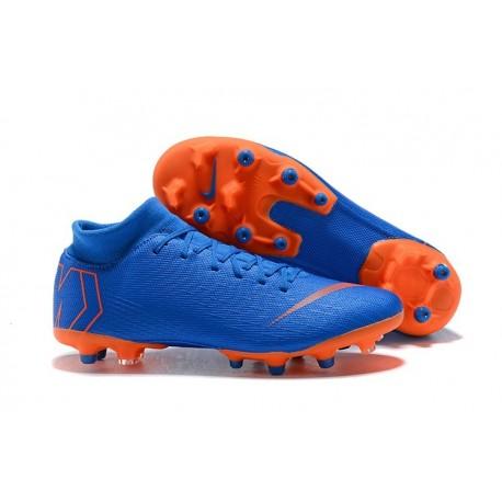 Nike Mercurial Superfly VI Elite AG-Pro Football Boots Blue Orange