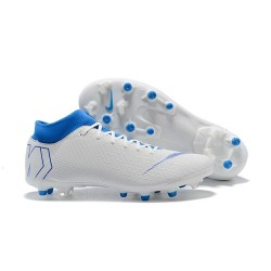 Nike Mercurial Superfly VI Elite AG-Pro Football Boots White Blue
