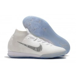 Nike Mercurial SuperflyX VI Elite IC Indoor Shoes White Gray
