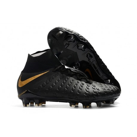 Nike Hypervenom Phantom 3 FG ACC Cleats - Black Golden