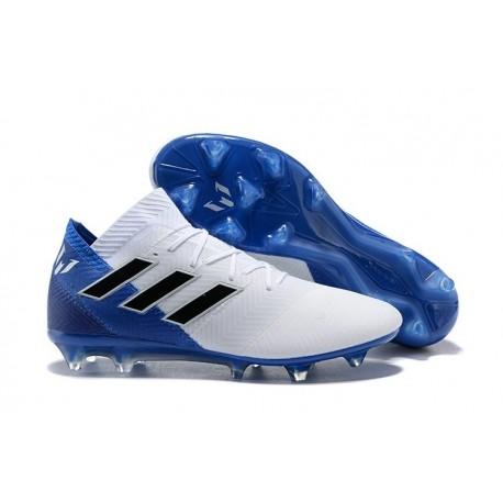 adidas World Cup 2018 Messi Nemeziz 18.1 FG - White Blue