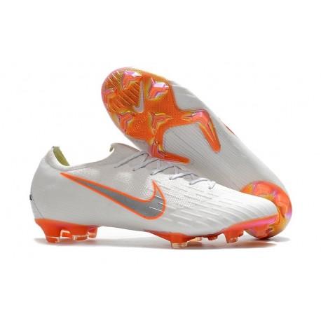 Nike Mercurial Vapor XII Mens FG Football Boots - White Orange