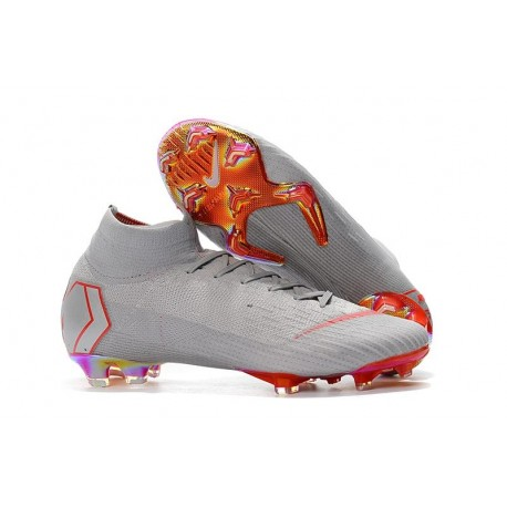Nike Mercurial Superfly 6 Elite FG World Cup 2018 Boots - Grey Red