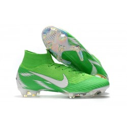 Nike Mercurial Superfly Vi Elite FG New Soccer Cleats - Green Silver