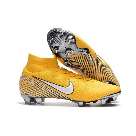 Nike Mercurial Superfly Vi Elite FG New Soccer Cleats - Neymar Yellow