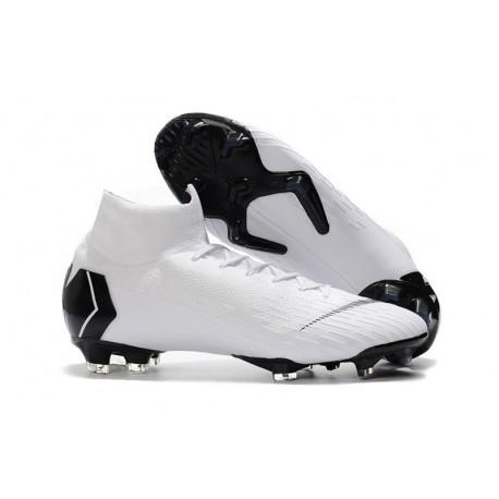 Nike Mercurial Superfly Vi Elite FG New Soccer Cleats - White Black