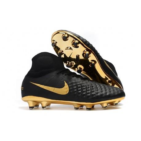 Top Nike Magista Obra 2 FG Firm Ground Boots - Black Gold