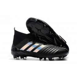 adidas Predator 18.1 Mens FG Football Boots Black Silver