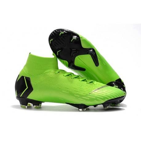Nike Mens Mercurial Superfly 6 Elite FG Football Boots - Green Black