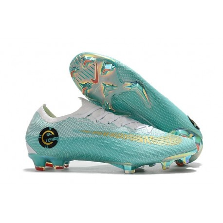 Ronaldo Nike Mercurial Vapor XII Mens FG Football Boots - Blue White Gold