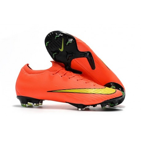 Nike Mercurial Vapor XII Mens FG Football Boots - Orange Yellow