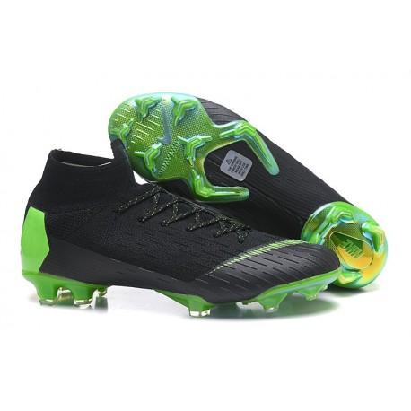 Nike Mens Mercurial Superfly 6 Elite FG Football Boots - Black Green