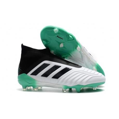 adidas New Predator 18+ FG Soccer Cleats White Green Black