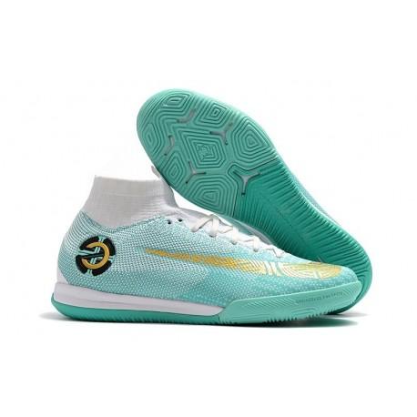 Nike Mercurial SuperflyX VI Elite IC CR7 Indoor Shoes Blue White