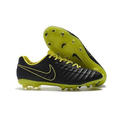Nike Tiempo Legend VII FG Men's Soccer Cleats - Black Yellow