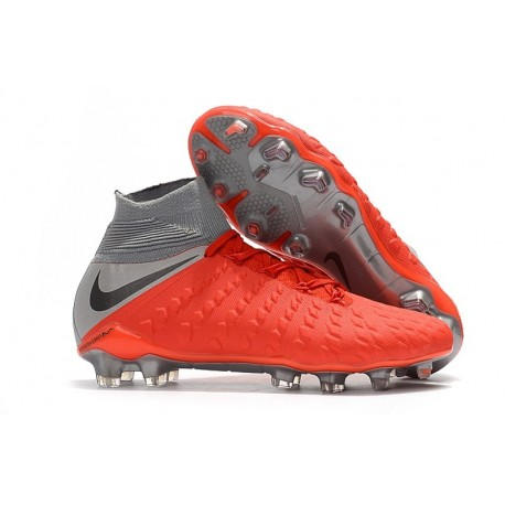 Nike Hypervenom Phantom 3 FG ACC Cleats - Red Gray