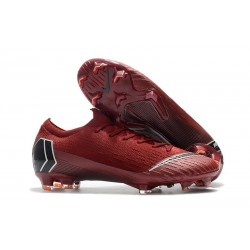 Nike Mercurial Vapor XII Elite FG Mens Soccer Boot - Red Black