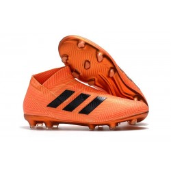 New Adidas Nemeziz 18+ FG Soccer Boots - Orange Black
