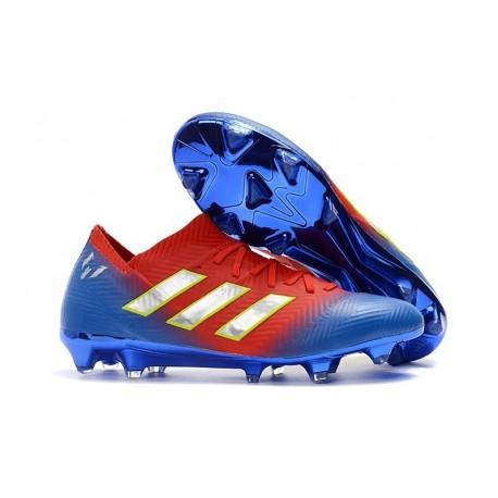 adidas World Cup 2018 Messi Nemeziz 18.1 FG - Red Blue Silver