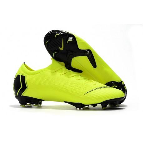 Nike Mercurial Vapor XII Elite FG Mens Soccer Boot - Volt Black