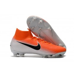 Nike New Mercurial Superfly VI 360 Elite FG Cleat - Orange White