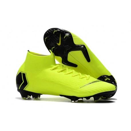 Nike New Mercurial Superfly VI 360 Elite FG Cleat - Volt Black