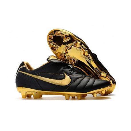 Nike Tiempo Legend VII R10 FG Men's Soccer Cleats - Black Golden