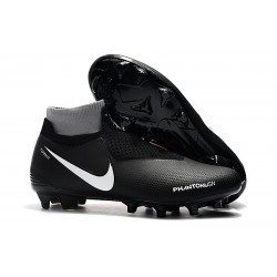 New Nike Phantom Vision Elite DF FG Soccer Boots - Black Red White