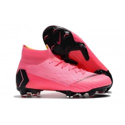 Nike Mercurial Superfly 6 Elite FG Mens Soccer Boot Pink Black